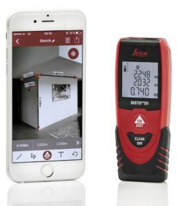 Dalmierz laserowy - pomiar na zdjęciu